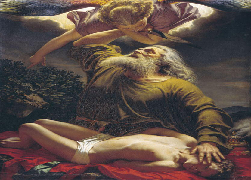 تصویری که نقاش آلمانی 170 سال پیش حضرت ابراهیم را در حال انجام مأموریت الهی نشان میدهد