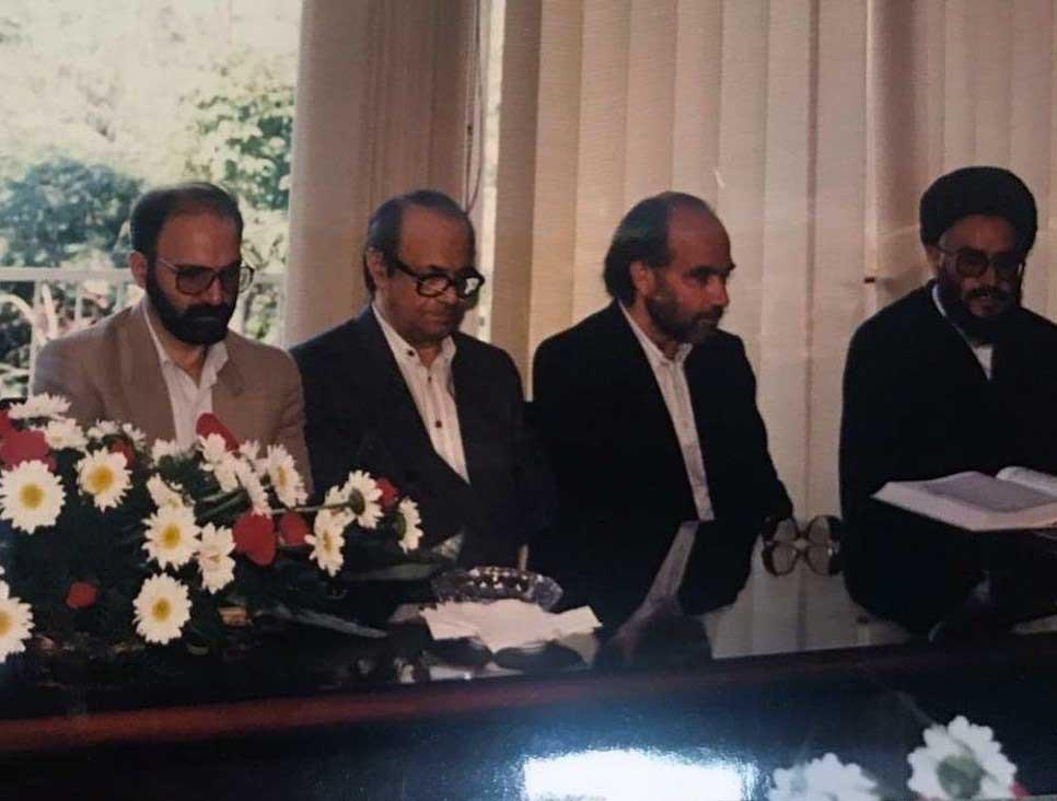 مصطفی محقق داماد، رضا داوری، علی محمد کاردان، عبدالکریم سروش